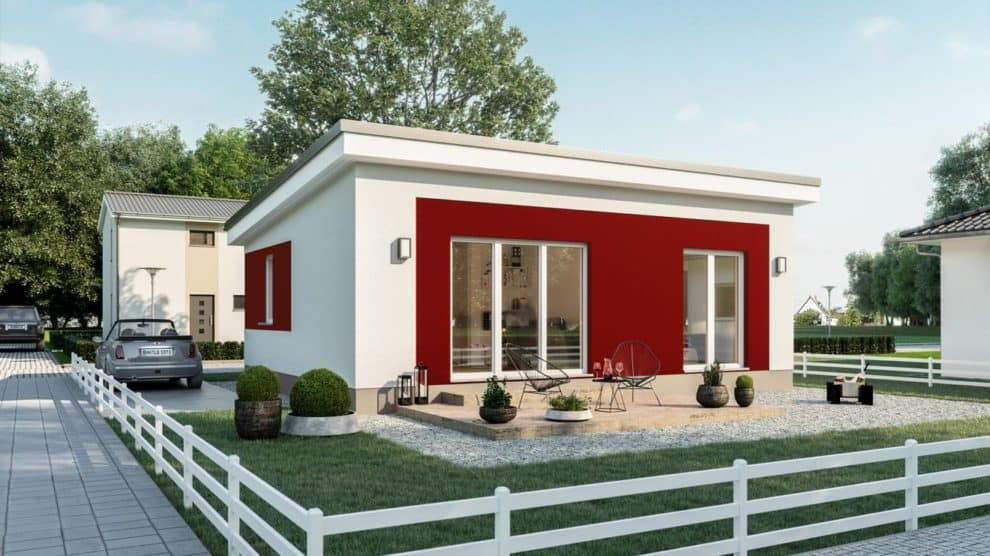 Gartenseite Haus Hiddensee Bilder/Grafiken: Roth-Massivhaus