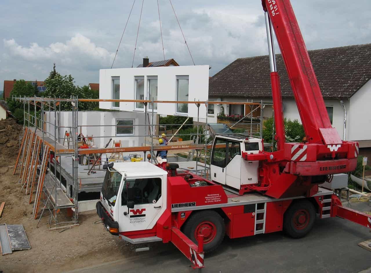 Bau Fertighaus Teilelieferung