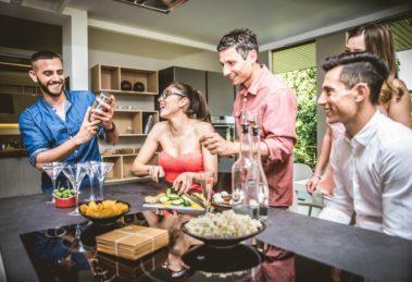 Cocktailparty in der Küche