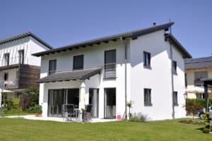 Haus mit Pultdach