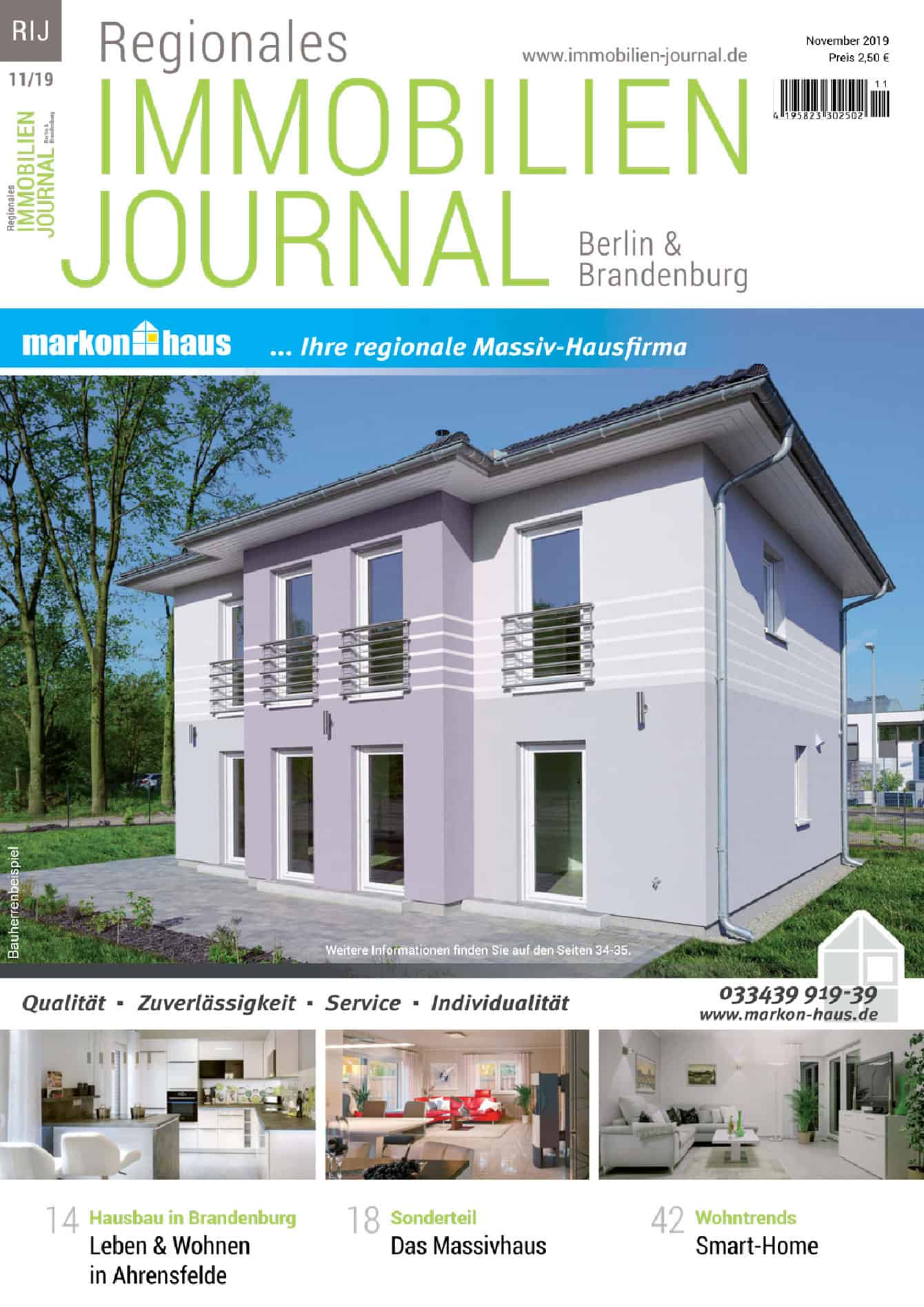 Regionales Immobilien Journal Berlin & Brandenburg 11-2019