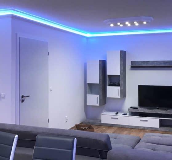 Deckenleisten für indirekte Beleuchtung