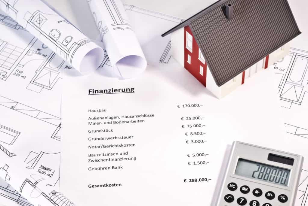 Finanzplan zur Finanzierung einer Immobilie
