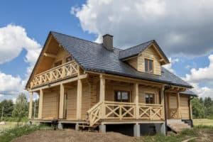 Modernes Holzblockhaus