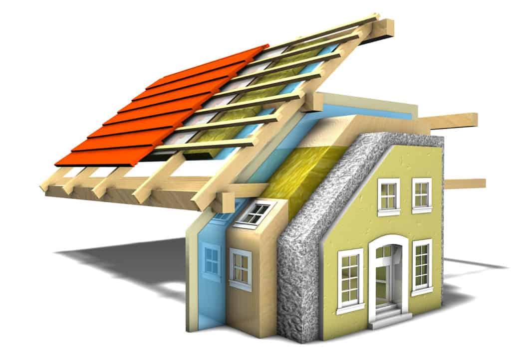 ökologische Baustoffe für Dachkonstruktion