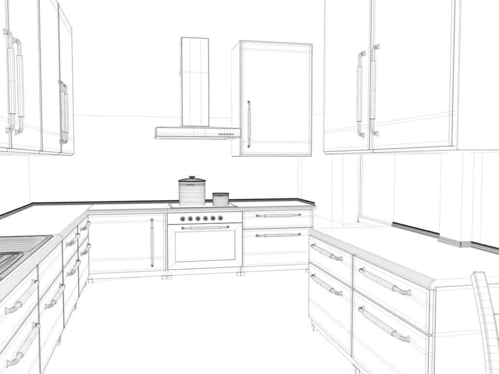 Planung der Arbeitsbereiche in der Küche