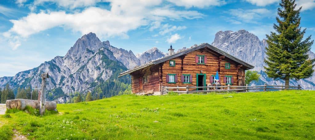 Chalet in den Alpen