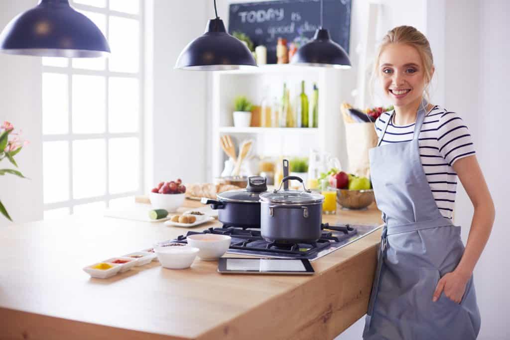 Arbereich Kochen in der Küche