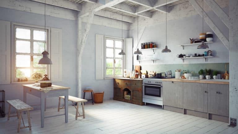 Küche im Vintagestil