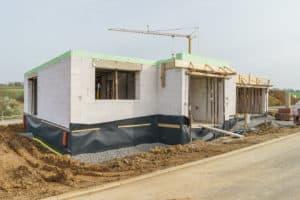 Rohbau planen bei einem Einfamilienhaus
