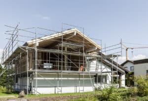 Haus mit Schleppdach