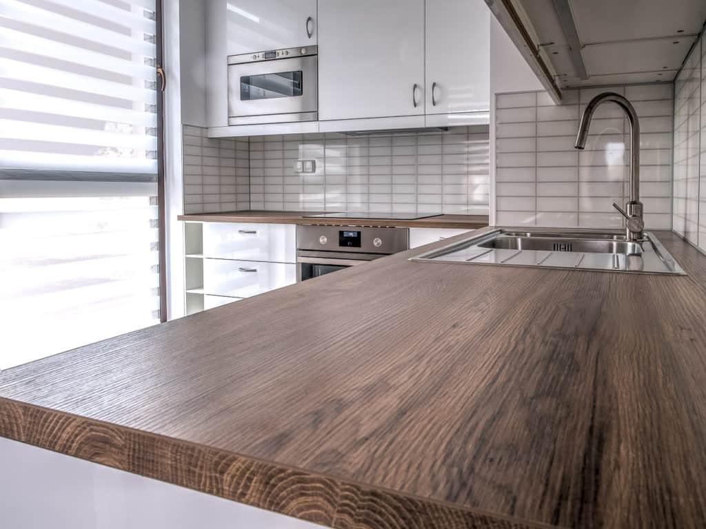 Holzoptik Arbeitsplatte Küche