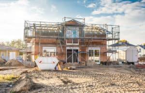 Bauphase beim Hausbau