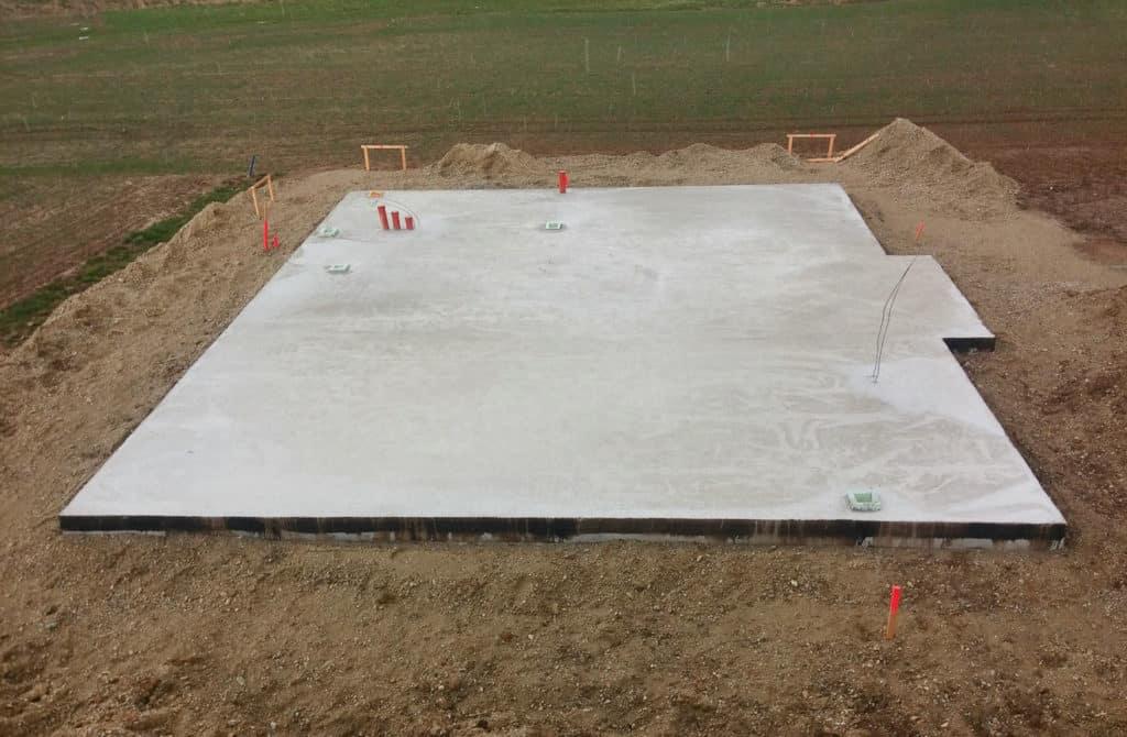 Bodenplatte Hausbau