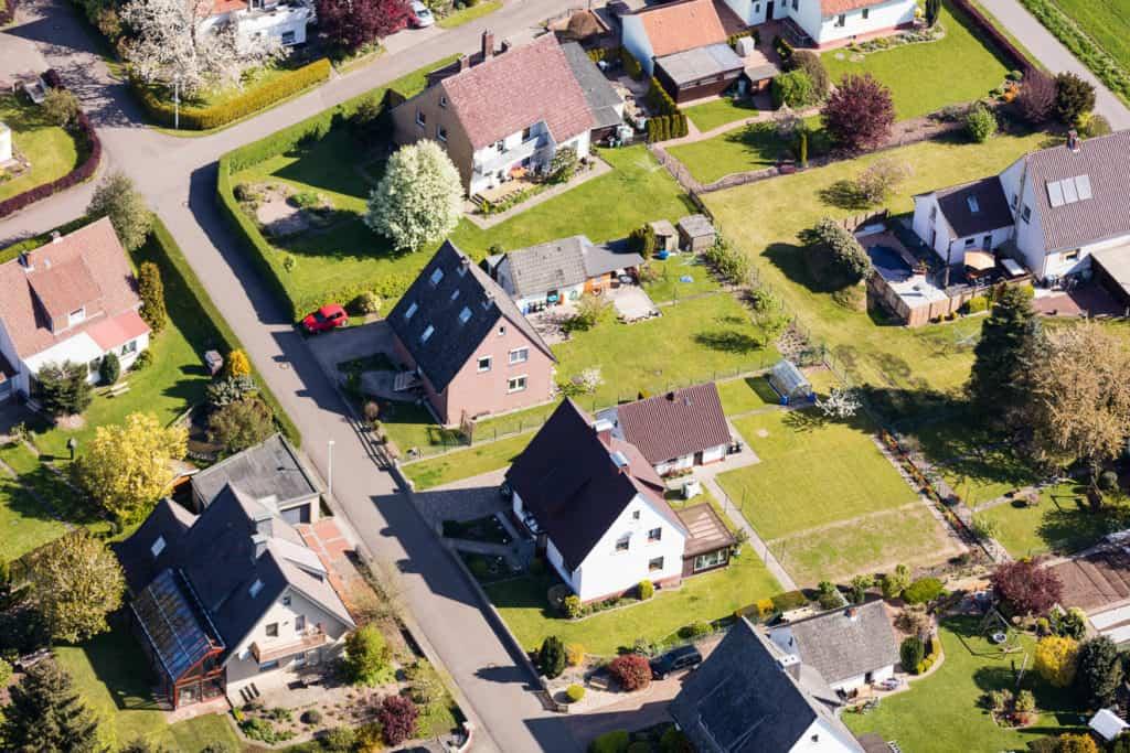 Häuser im Wohngebiet