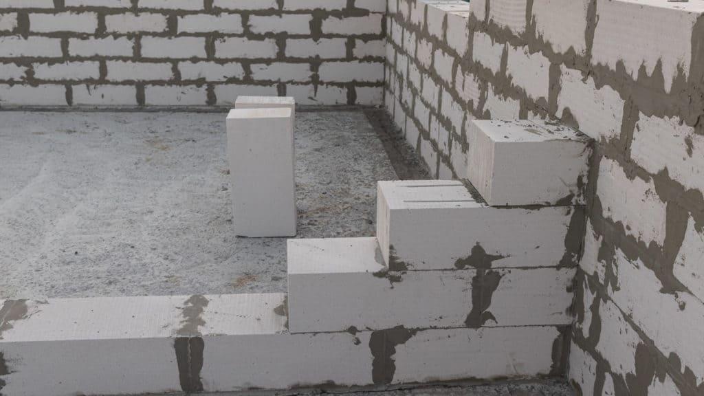 Wand aus Leichtbausteine