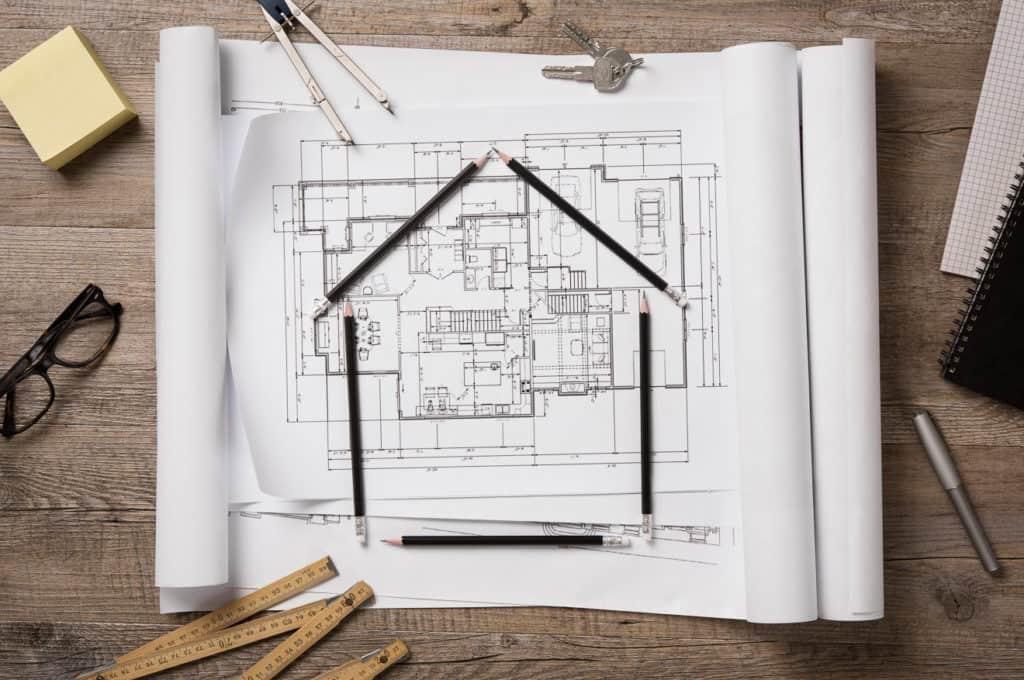 Planung eines Hausbaus