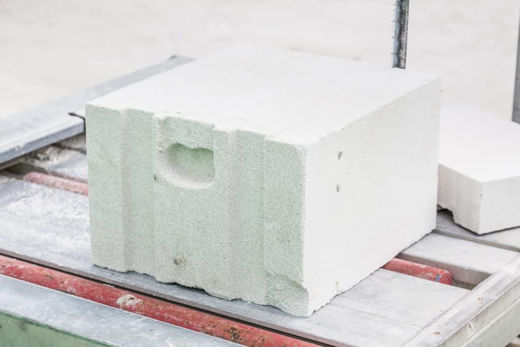 Baustein aus Porenbeton