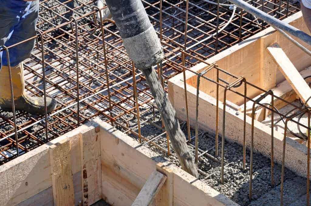 Herstellen einer Stahlbetonwand