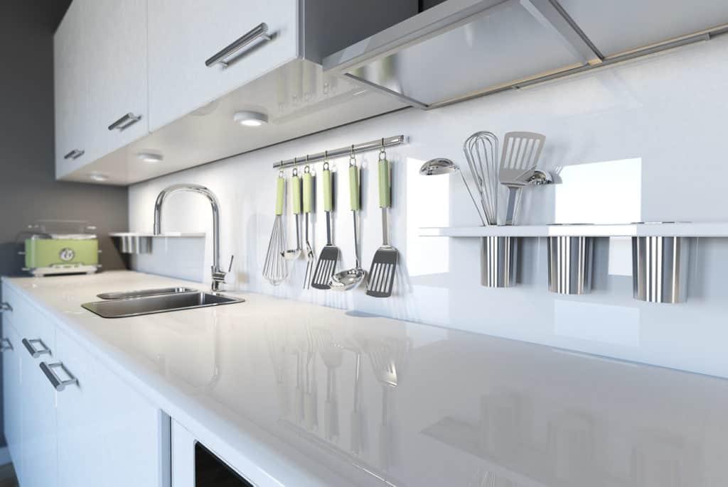 Beleuchtung der Arbeitsflächen in der Küche