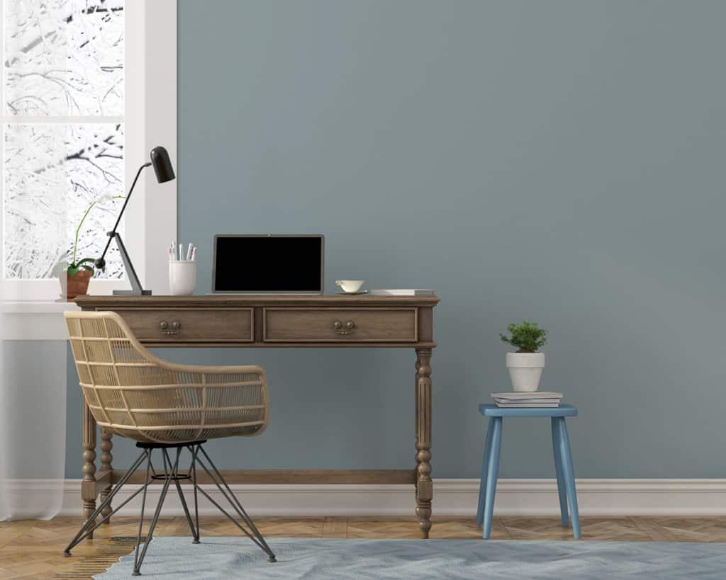 Schreibtisch im Homefoffice