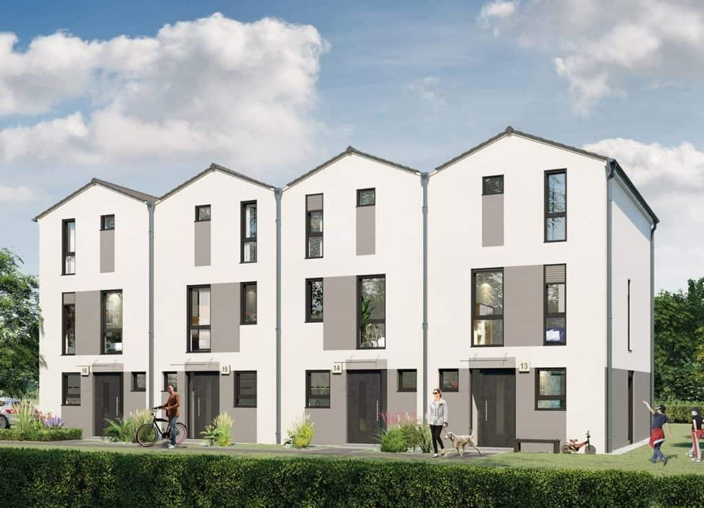 """Im künftigen Wohnquartier """"Am Stadtweg"""" in Rangsdorf errichtet die HELMA Wohnungsbau GmbH sieben Einfamilienhäuser und 20 Reihenhäuser. © HELMA Wohnungsbau GmbH"""