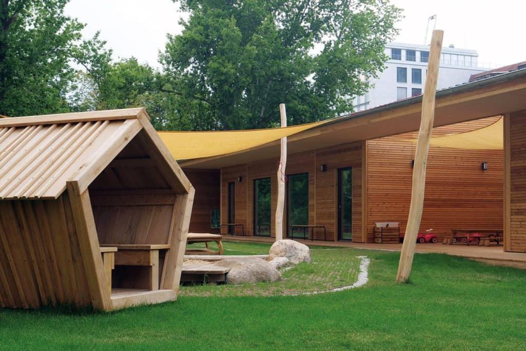 Bei dem Bau wurde auf die Modulbaulösung der Max Holzbau Unternehmensgruppe  gesetzt