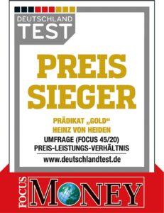 Heinz von Heiden ist Preis-Sieger-FOCUS MONEY 2020