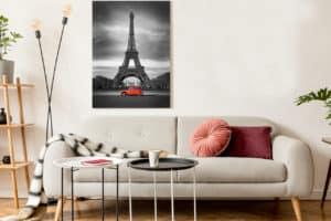 Schwarz Weiß rot im Wohnzimmer