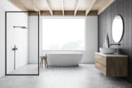 Moderne Badgestaltung in schwarz-weiß