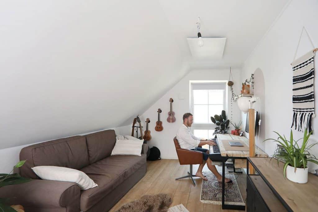 Gästezimmer, Home-Office und Ort zum Musikmachen.