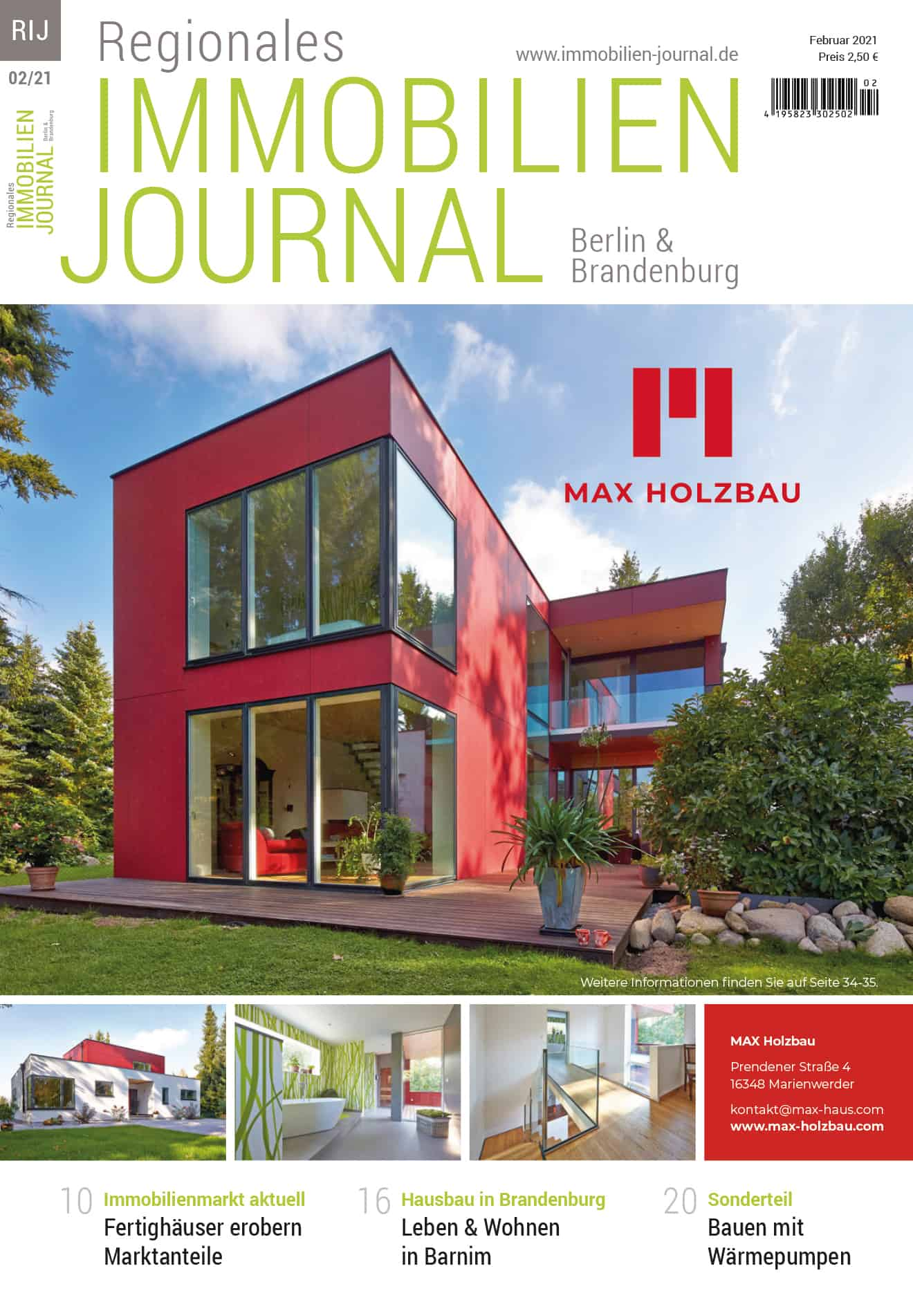 Regionales Immobilien Journal Berlin & Brandenburg 02-2021