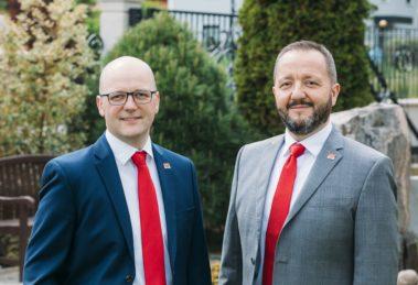 Enrico und André Roth, Geschäftsführer des regionalen Hausbauunternehmens Roth-Massivhaus